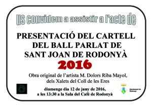 Cartell Presentació cartell Ball de Rodonyà 2016 copia